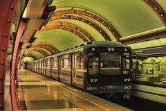 St. Petersburg  underground station Royalty Free Stock Photos