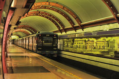 St. Petersburg  underground station Royalty Free Stock Photography