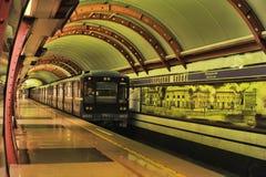St. Petersburg  underground station Royalty Free Stock Photography