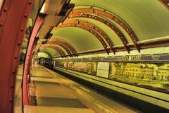 St. Petersburg  underground station Royalty Free Stock Image