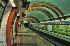 St. Petersburg  underground station Stock Photo