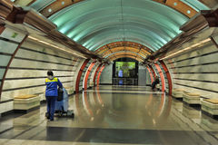 St. Petersburg  underground station Royalty Free Stock Photo