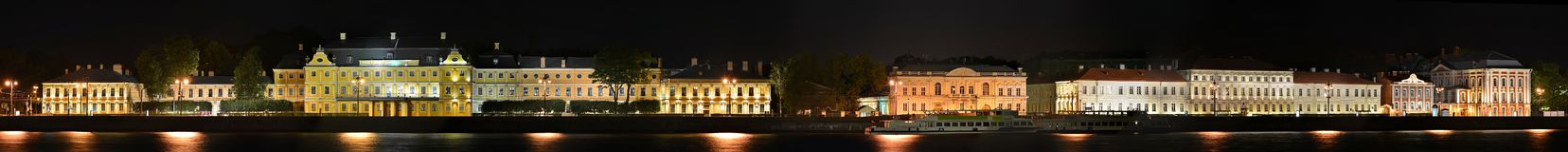 St Petersburg universitetarEmbankmentv slott Royaltyfri Bild