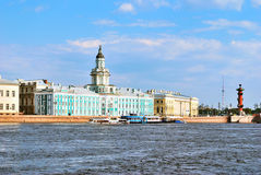 St. Petersburg. Universitetskaya Embankment Stock Image
