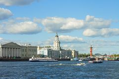 St. Petersburg, University embankment Royalty Free Stock Photography