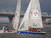 St. Petersburg University Sailing Open Cup Stock Images