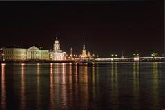 St. Petersburg van de nacht Stock Afbeelding
