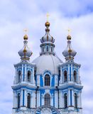 St. Petersburg van de Smolnykathedraal royalty-vrije stock afbeelding