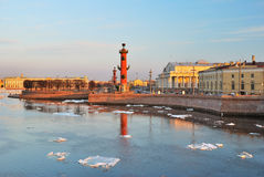 St. Petersburg, Vasilievsky island in spring Stock Photo