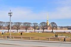 St. Petersburg. Vasilievsky Island in the spring Stock Photos