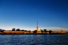 St Petersburg Vasilyevskiy ö Arkivfoto