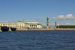 St. Petersburg, Vasilyevskiy island Stock Images
