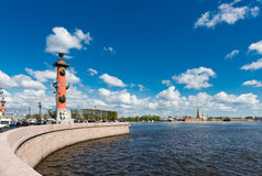 St. Petersburg. Vasilyevsky Island in summer day Royalty Free Stock Photography