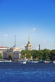 St. Petersburg. A view of the Admiralty through Neva Royalty Free Stock Image