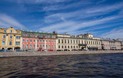 St. Petersburg, view of the city from the channel Stock Photos