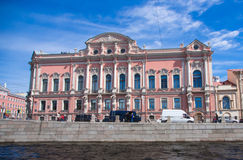 St. Petersburg, view of the city from the channel Royalty Free Stock Image