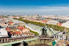 St. Petersburg. View of the city from a survey platform of a colonnade of St. Isaac's Cathedral Stock Images