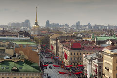 St. Petersburg. View of the city from the top point. Russia. Royalty Free Stock Photography
