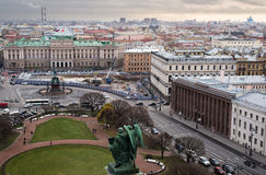 St. Petersburg. View from  colonnade of St. Isaac's Cathedral. Russia Royalty Free Stock Images