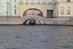St. Petersburg.  View of Ermitazhny Bridge and Winter flute Stock Images