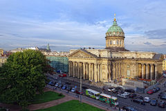 St. Petersburg. View of the St. Isaac's Cathedral, the surrounding streets Stock Images