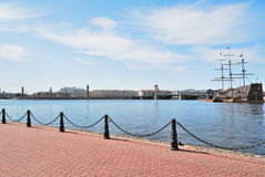 St. Petersburg. View of the Neva river Stock Photos