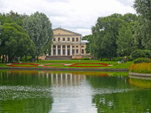 ST. PETERSBURG. A view of a pond and the Yusupov Palace in the Yusupov garden Stock Image
