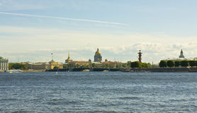 St. Petersburg, view from quay Royalty Free Stock Photo