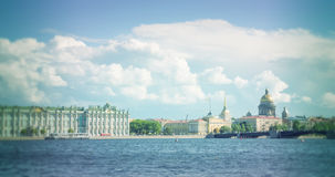 St. Petersburg. View on the Saint Isaac's Cathedral, the Admiralty and Winter Palace Royalty Free Stock Photo