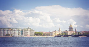 St. Petersburg. View on the Saint Isaac's Cathedral, the Admiralty and Winter Palace Royalty Free Stock Image