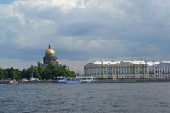 St. Petersburg. View of St. Isaac's Cathedral from Neva Stock Image