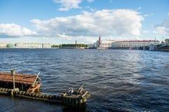 St. Petersburg. View on Vasilevsky Island Stock Photo