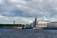 St. Petersburg. View on Vasilevsky Island Royalty Free Stock Photos