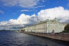 St. Petersburg. View at winter paalais in St. Petersburg Stock Photo