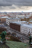 St Petersburg. Visión desde la columnata de la catedral del St. Isaac. Rusia fotos de archivo