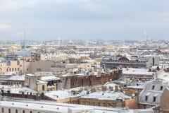 St Petersburg von der Kolonnade von Kathedrale St. Isaacs Lizenzfreies Stockfoto