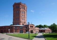 St Petersburg Vue d'une vieille tour d'eau et de l'univers complexe de l'eau de musée Images stock