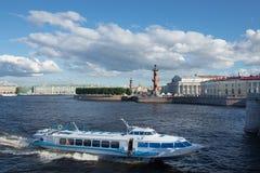 St Petersburg Vue sur l'?le de Vasilevsky Photographie stock libre de droits