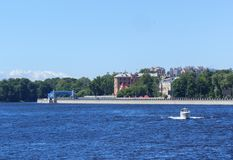 St. Petersburg waterfront Royalty Free Stock Photos