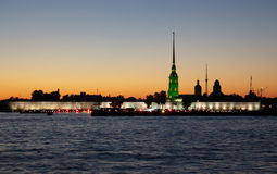 St.Petersburg in white nights Royalty Free Stock Photography