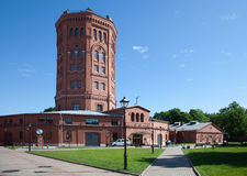 St Petersburg Widok stara wieża ciśnień i muzealny kompleks wody wszechświat Obrazy Stock
