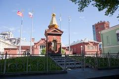 St Petersburg Widok stara wieża ciśnień i muzealny kompleks wody wszechświat Fotografia Royalty Free
