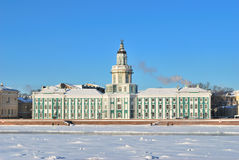 St. Petersburg in  winter. Kunstkamera Stock Image