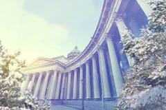 St Petersburg am Winterabend Weihnachts-, des neuen Jahres, Europas, der Liebe und der Reisekonzept Lizenzfreie Stockfotografie