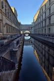 St Petersburg, Winterkanal Stockbilder