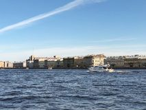 St Petersburg Yacht su Neva River a St Petersburg, St Petersburg, Russia Fotografia Stock