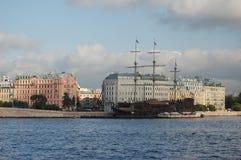 St- Petersburgansicht von Vasilievsky-Insel Lizenzfreies Stockfoto