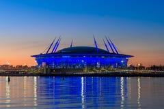 St- Petersburgfußballstadion lizenzfreie stockfotografie