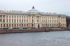 St- Petersburgkaiserakademie von Künsten Die Akademie wurde im Jahre 1757 von Ivan Shuvalov gegründet Lizenzfreies Stockbild