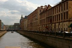 St- Petersburgkanal Stockbild